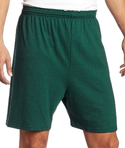 - Soffe Heavy Weight Dark Green Jersey Short-2XL