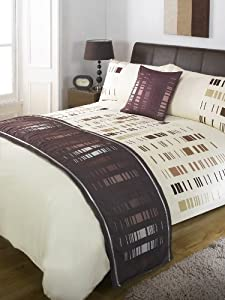 5 piece chocolate brown staten bed runner cushion cover duvet cover and pillowcases set super. Black Bedroom Furniture Sets. Home Design Ideas