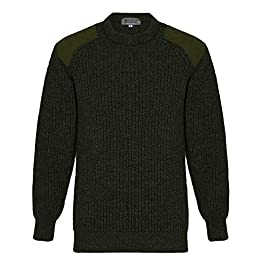 Lona Scott Mens Hunting Country Sweater, 100% Wool