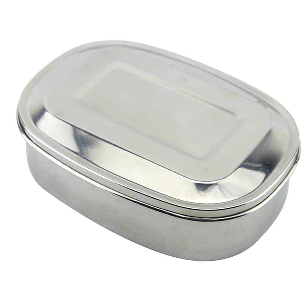D DOLITY Leakproof Stainless Steel Food Containers with Airtight Lids, Metal Tiffin Bento Box Lunch Containers for Breakfast, Lunch, Dinner - 1 Grid