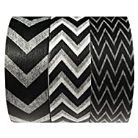Allydrew Black and White Chevron Washi Masking Tape (set of 3) 10M L x 15mm W