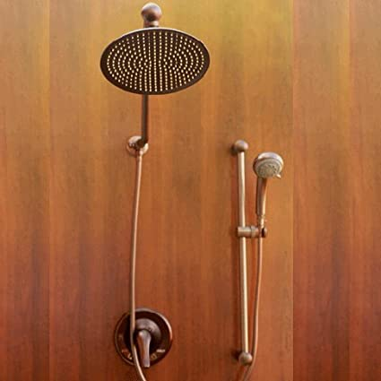 Atlantis 7 Oil Rub Bronze Rain Shower Faucet System - Tub And Shower ...