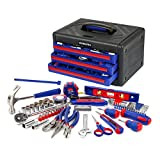 WORKPRO W009022A 125-Piece 3-Drawer Home Tool Set