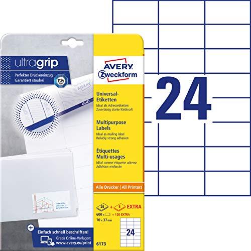 6000 Etiketten 97 X 42,3 mm Blatt auf DIN A4 Kompatibel zu Zweckform 3659 4781