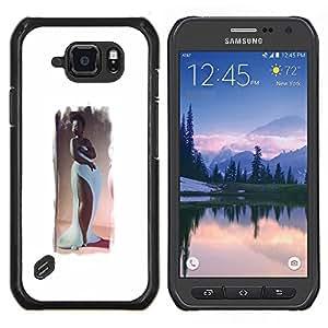 "Be-Star Único Patrón Plástico Duro Fundas Cover Cubre Hard Case Cover Para Samsung Galaxy S6 active / SM-G890 (NOT S6) ( Arte de reloj de arena figura hermoso vestido largo"" )"