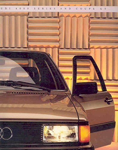 1985 Audi 4000 Series and Coupe GT Sales ()