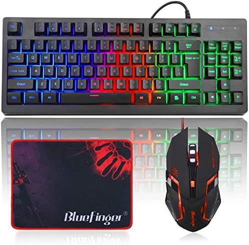 Keyboard Backlit BlueFinger Rainbow Computer product image