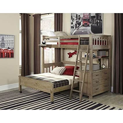Amazoncom Ne Kids Highlands Twin Loft Bed With Full Lower Bed In