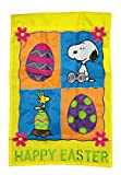 HAPPY EASTER SNOOPY WOODSTOCK PEANUTS Garden Flag 12″ x 18″ Review