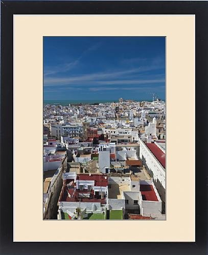 Framed Print of Spain, Andalucia Region, Cadiz Province, Cadiz, elevated city view from the by Fine Art Storehouse