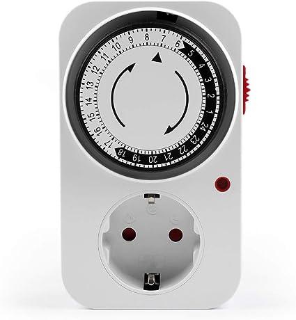 Programmateur journalier mécanique 24h prise minuteur minuterie programmable