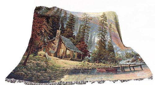 Manual Thomas Kinkade 60 X 50-InchTapestry Throw, A Peaceful ()
