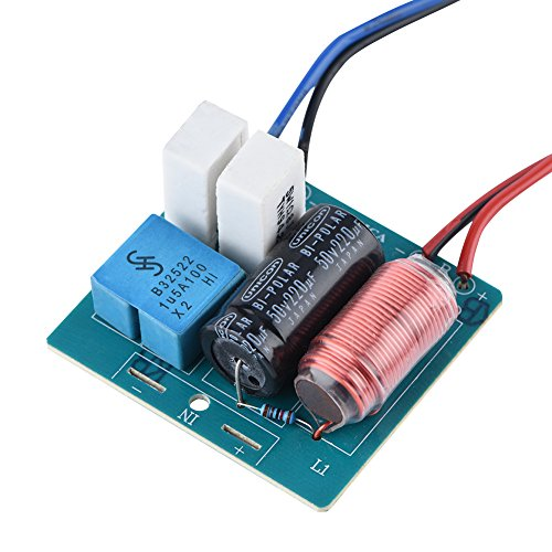 2Pcs Speaker Frequency Divider Board Tweeter + Bass, 2 Way Hi-Fi Audio Crossover Sound Filter Frequency Distributor DIY Module