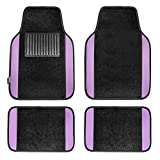 mat sets for cars - FH Group F14407PURPLE Premium Full Set Carpet Floor Mat (Sedan and SUV with Driver Heel Pad Purple)