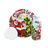 Fitz and Floyd 3 Piece Old World Christmas Milk and Cookies Press Set, White/Red/Green