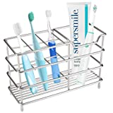 I&HE Premium Bathroom Toothbrush Holder - 7 Slots Stainless Steel  Bathroom Toothbrush Organizer
