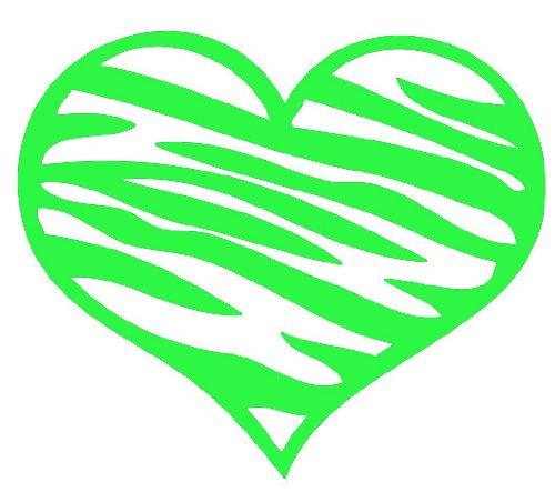 ZEBRA PRINT HEART 8