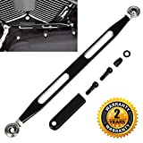 Shift Gear Linkage Black for Harley Davidson 1980-2016 Slotted Anodized Edge Deep Cut CNC for Softail Road King Electra Glide Billet Aluminum BenkerMoto