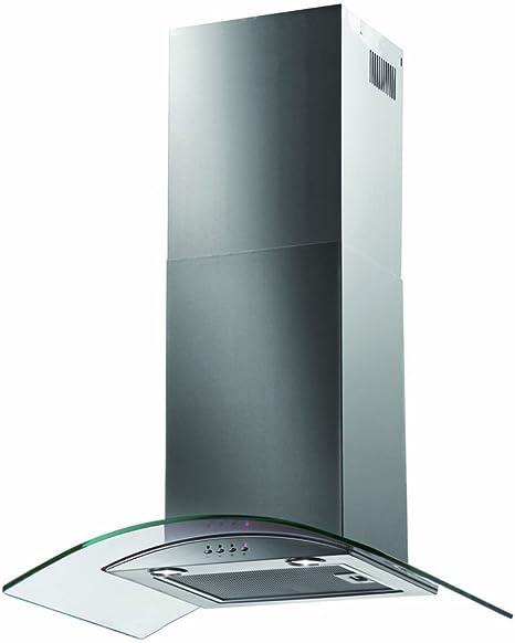 Baumatic 70 cm, cristal), diseño curvado chimenea cocina capucha 700 mm telescópica acero inoxidable bt7.3gl: Amazon.es: Grandes electrodomésticos