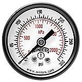 """Winters PEM Series Steel Dual Scale Economy Pressure Gauge, 0-300 psi/kpa, 1-1/2"""" Dial Display, -3-2-3% Accuracy, 1/8"""" NPT Center Back Mount"""