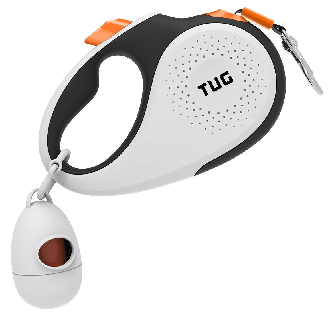 TUG Medium White/Orange Dog Retractable Leash Kit