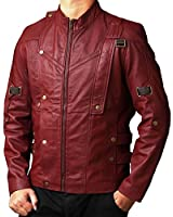 Chris Red Galaxy Stylish Leather Jacket ► BEST SELLER ◄