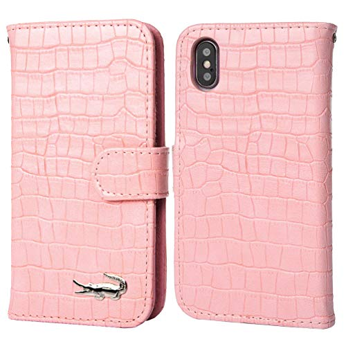 Samsung Galaxy S10e Case, Crocodile Pattern Wallet Soft PU Leather Case with Kickstand Function Card Holder and ID Slot Slim Flip Protective Case