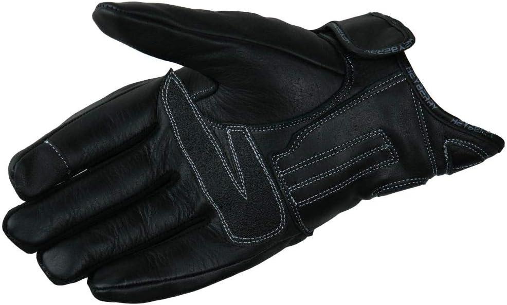 Heyberry Motorradhandschuhe Leder Motorrad Handschuhe Kurz Schwarz Gr L Auto