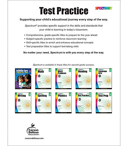 Spectrum Grade 2 Test Practice Workbook—2nd Grade Math And English Language  Arts Reproducible, Practice For Standardized Tests With Answer Key (160  Pgs) Pricepulse