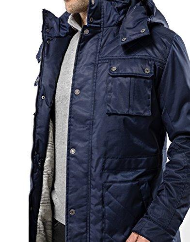 Vincenzo Boretti Manteau- Veste d'hiver Homme, Design de Long-Parka élegant-Casual, imperméable, Capuche détachable et…