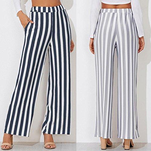 Pantalons Rayure Pantalons Dcontract Sexy Cheville la Amincissant Haute Evas Taille Office Marine SANFASHION Femme Chic UrSIwUdq