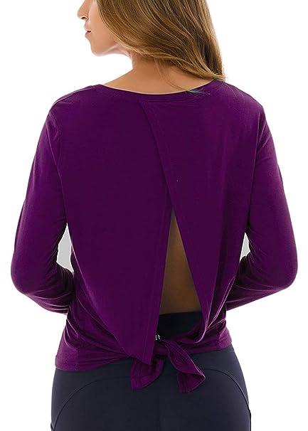Amazon.com: Fihapyli - Camiseta de manga larga para mujer ...