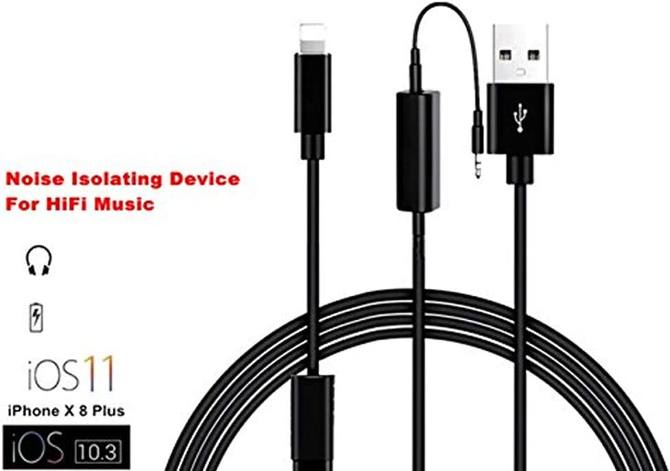 Car USB Aux Adapter 3.5MM Lead for BMW//Mini Cooper Y Cable Charging Music Interface Compatible for iPXs Xs Max XR X 8 7 7 Plus i-Pod i-Pad and Android Devices