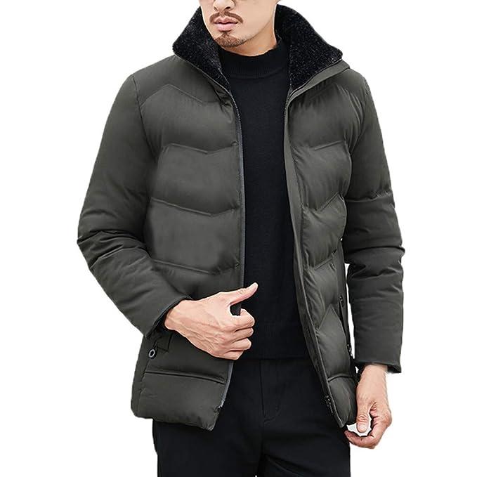 Abrigo de plumón para Hombre, BBestseller Cuello de Piel para Hombres de Moda Jacket cálido Escudo de algodón de Manga Larga Chaqueta Top: Amazon.es: Ropa y ...