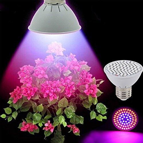 [Pack of 4] RAYWAY LED Grow Light bulb, 72 leds...