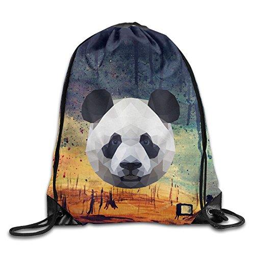 Bear Carrying Man Costume (Panda Drawstring Gym Sport Bag, Large Lightweight Gym Sackpack Backpack For Men And Women)