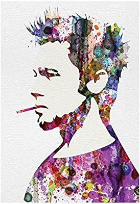 Fight Club Watercolor Poster by Anna Malkin 13 x 19in