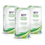 K-y Natural Feeling Personal Lubricant Gel with Aloe Vera (Pack of 3)