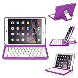 iPad Mini 3 Keyboard Case,kiwitatá Wireless Bluetooth Keyboard Case for Apple iPad Mini 1/2/3 with 360 Degree Rotation and Multi-Angle Stand