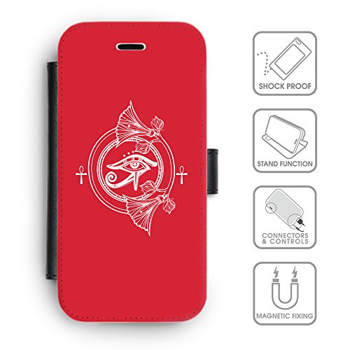 Flip PU Leather Wallet Case avec des fentes de carte de crédit // Q09810601 Religion 21 Alizarine // apple iPhone 6s 2015