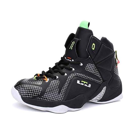 FJJLOVE Zapatillas de Baloncesto, absorción de Impactos Botas de ...