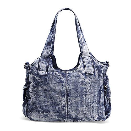 Bag Tote Shoulder Blue Casual Hobo Genda Handbag Denim 2Archer Women Bag w46CqgTn