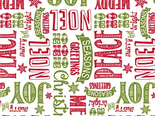 "Christmas Cellophane Gift Wrap - 30"" x 100' - Chalkboard Wis"