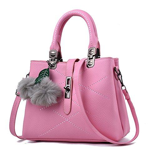 Guangming77 Portable Shoulder Bag Handbags _ Three Portable Handbags, Vino Tinto Pink