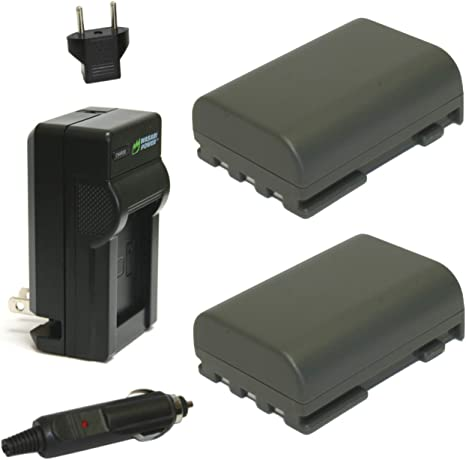 Replacement Battery /& Charger Set for Canon HV20 Camera Replacement Canon NB-2LH Battery /& Charger Kit