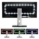 Luminoodle Color Bias Lighting, USB TV and Monitor Backlight LED Strip Lights Kit with Dimmer, Remote - 6.5 ft for 24'' to 29'' TV - Medium