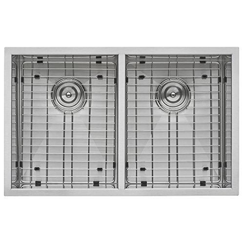 Ruvati RVH7350 Undermount 16 Gauge Kitchen Sink Double Bowl, 30'', Stainless Steel by Ruvati (Image #2)