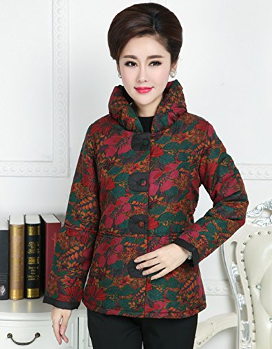 100% Mulberry Silk Womens Tang Suits Cotton-padded Jackets Chinese Coats Womens Jackets by Womens Tang Suit (Image #2)
