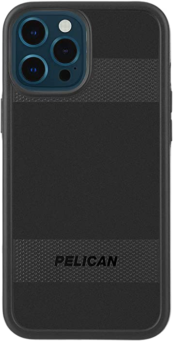 PELICAN - PROTECTOR Series - Case for iPhone 12 Pro Max (5G) - Compatible with MAGSAFE Accessories & Charging - 15 ft Drop Protection - 6.7 Inch - Black