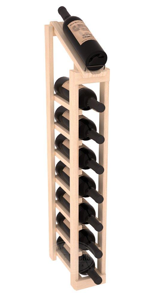 Wine Racks America Ponderosa Pine 1 Column 8 Row Display Top Kit. 13 Stains to Choose From!